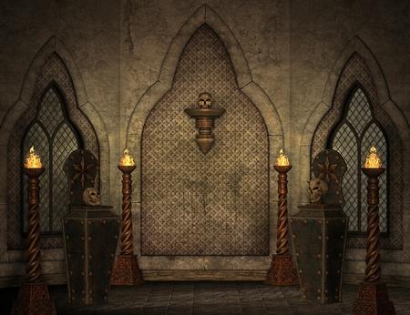 trono: escenario gótico