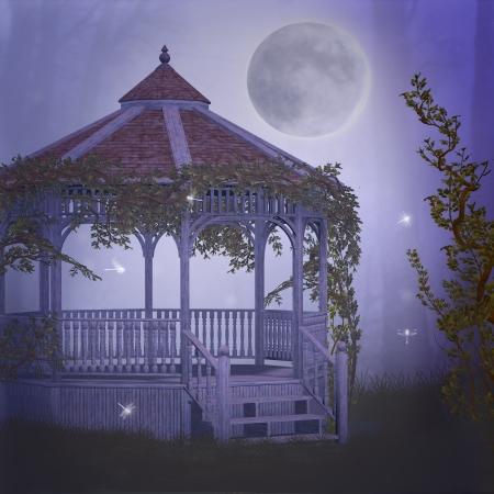 fairytale background: dreamy garden
