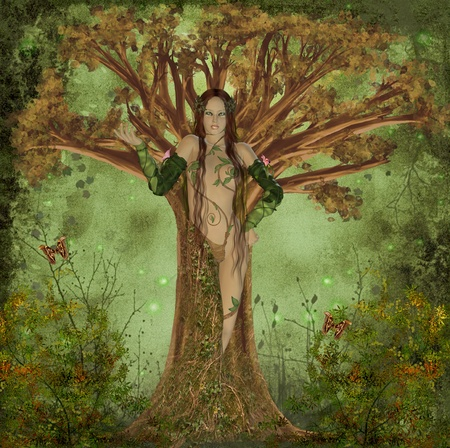 wise woman: mother earth Stock Photo