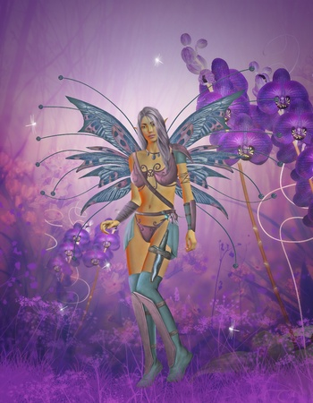 3d render of a fairy photo