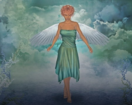 3d render of a angel photo