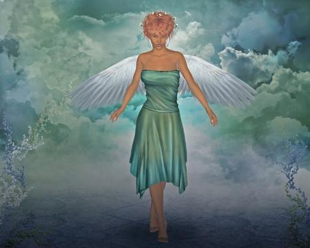 3d render of a angel