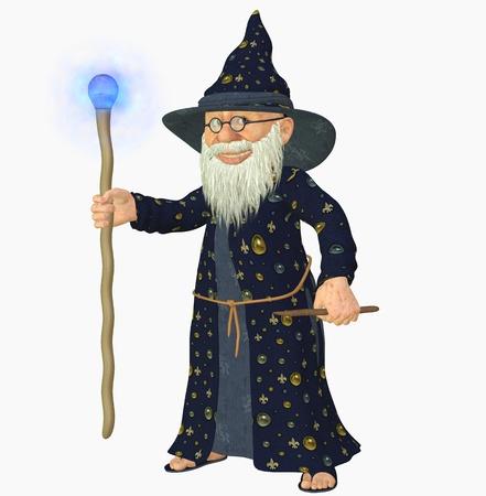 sombrero de mago: 3d hacer de un viejo mago