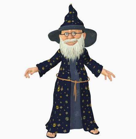 merlin: 3D render de un viejo mago