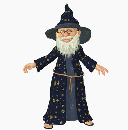 3d render of a old wizard photo