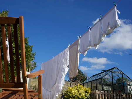Dry clothes in the suny day