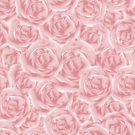 Vector seamless Aphrodite rose, Beautiful pink rose pattern in pastel tone.