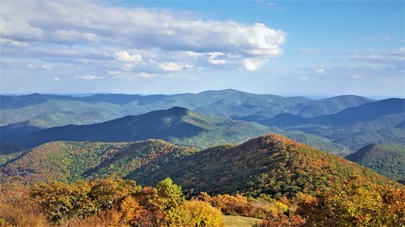 The fantastic view from Brasstown Bald mountain 写真素材