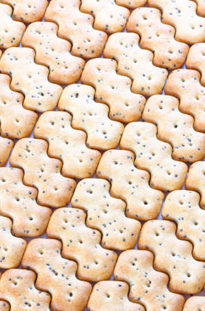 browned: Small shaped browned crisp biscuits as tile background