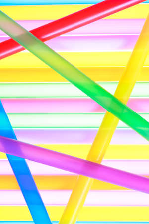 Colorful drinking straws close up abstract background photo