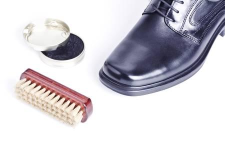 Classic shiny black men Stock Photo
