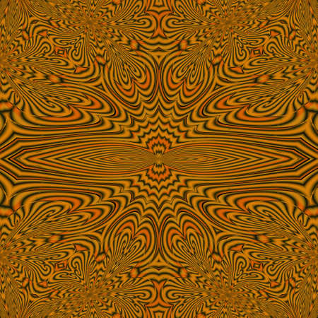 warm: A hypnotic seamless pattern, designed in warm tones Stock Photo