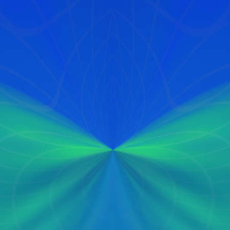 faint: An abstract illustration with faint pattern and green fog on blue background