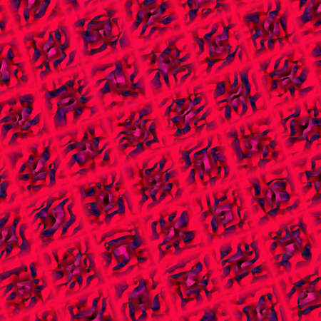tenon: An abstract illustration with relief purple squares on red background