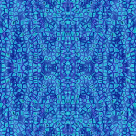 trencadis: An abstract texture with blue irregular tiles