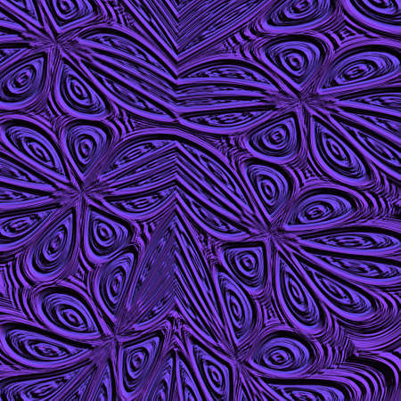 noisy: An abstract violet and black noisy fractal flowers