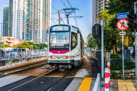 Light Rail in Tin Shui Wai, Hong Kong