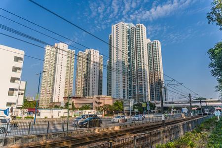 City scenery in Tin Shui Wai, Hong Kong