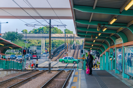 Platform in Hongkong, Tin Shui Wai Editorial