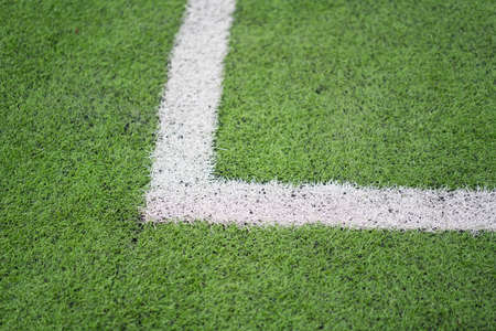 The border line of a football field