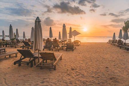 Sunrise in Bali Island Stock Photo