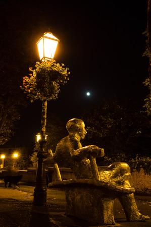 Antun Gustav Matoš, a statue in Gornji grad, Zagreb