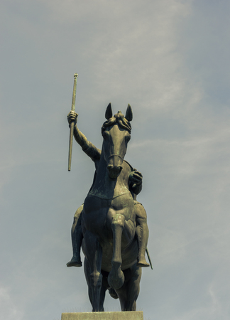Statue of King Tomislav on Tomislav Square in Zagreb, front view. Stock Photo - 84317160