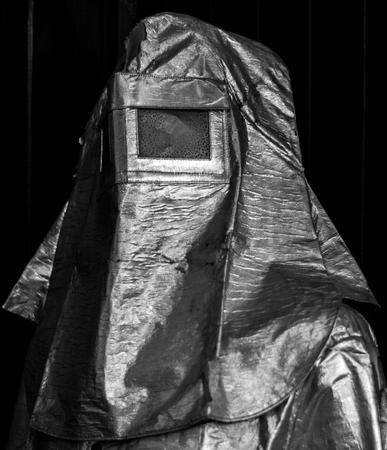 Azbestos protective suit monochrome Stock Photo