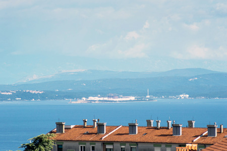 Looking towards Krk island from my balcony in Rijeka Imagens