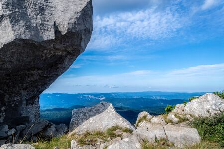 Look from the Big Risnjak peak Stock Photo