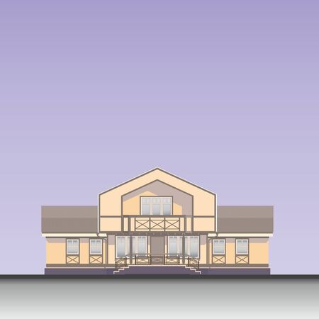 two story: house vector illustration
