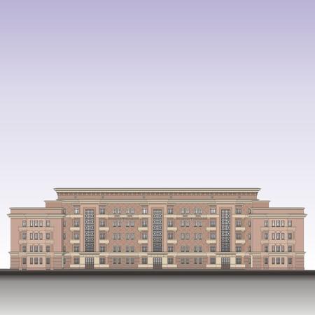 multi storey: building vector illustration
