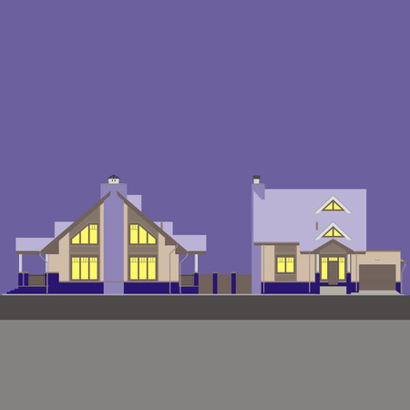 multi storey: The facades of residential house Illustration