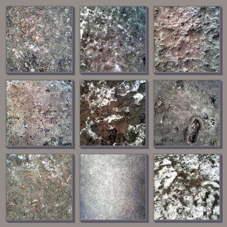 convex: Photos of ground textures, concrete, sidewalk, lawn, grass Stock Photo