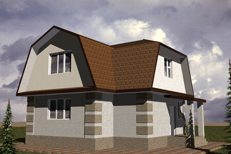 abode: Facades storey residential building constructed in traditional style with modern elements