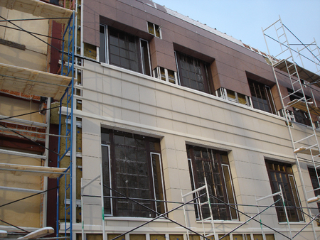 constructivism: At construction site of a multistory building