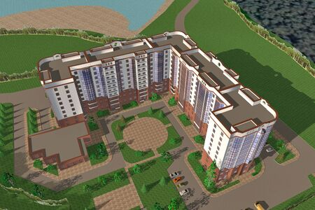 social apartment: Apartment house structure building social housing neighborhood
