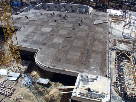 waterproofing: Foundation work at the construction site of the building
