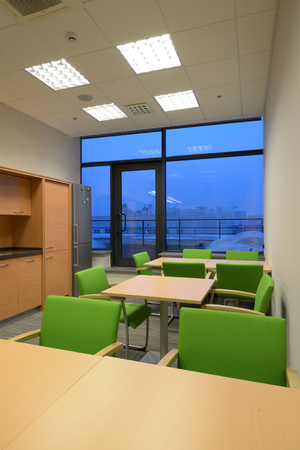 office space: Interior of contemporary office with open space Stock Photo