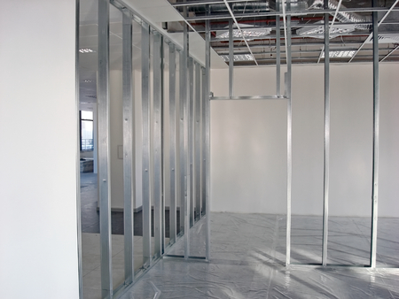 finishing: Finishing construction work in large office buildings