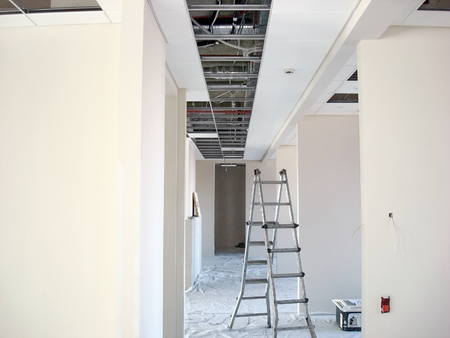 large office: Finishing construction work in large office buildings