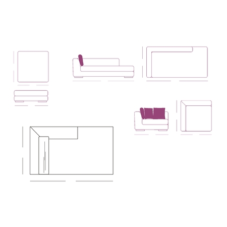 constructivism: Outline Illustration of the Couch Plan Illustration