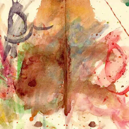 picturesque: Abstract picturesque colored drawing on paper paints