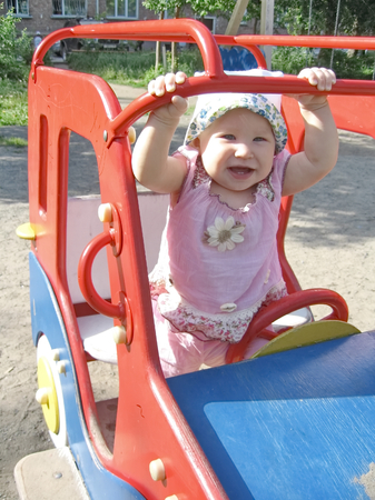 sissy: Little child smiling happy baby girl playing