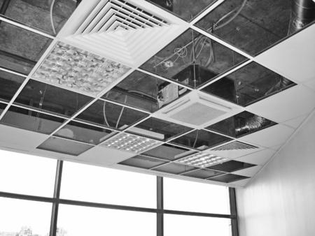 Works building finishing ceiling inside office premises