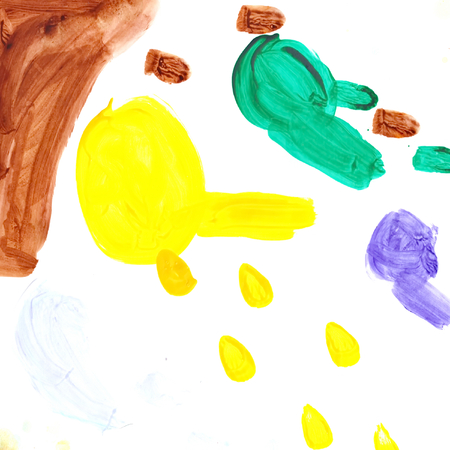 Baby Art drawing Child pictures colored  on paper