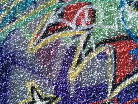 Abstracción del color del graffiti en la pared del yeso Foto de archivo - 80841556