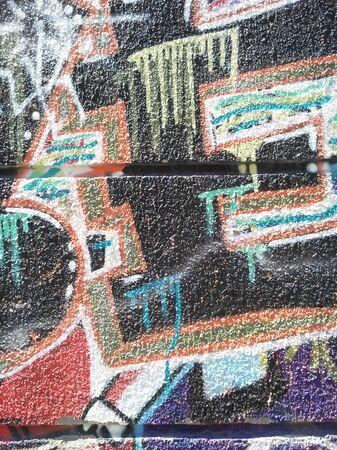 Abstracción del color del graffiti en la pared del yeso Foto de archivo - 80616328