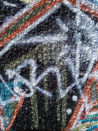 Abstracción del color del graffiti en la pared del yeso Foto de archivo - 80695213