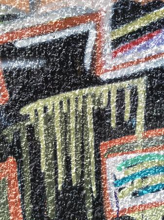 Abstracción del color del graffiti en la pared del yeso Foto de archivo - 80616321